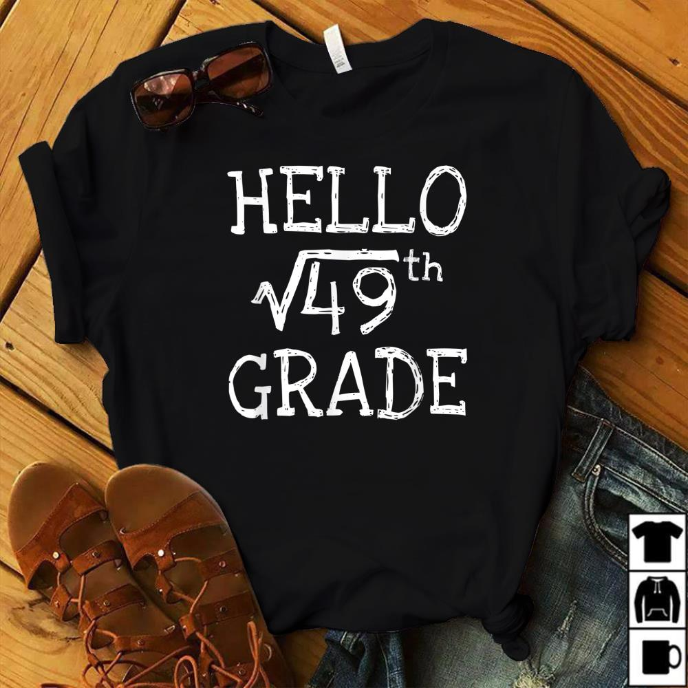 Back To School 7th Grade Square Root Of 49 Math Kids Teacher T Shirt Size S 5xl Aamutee Net Shirts Shop Funny T Shirts Make Your Own Custom T Shirts