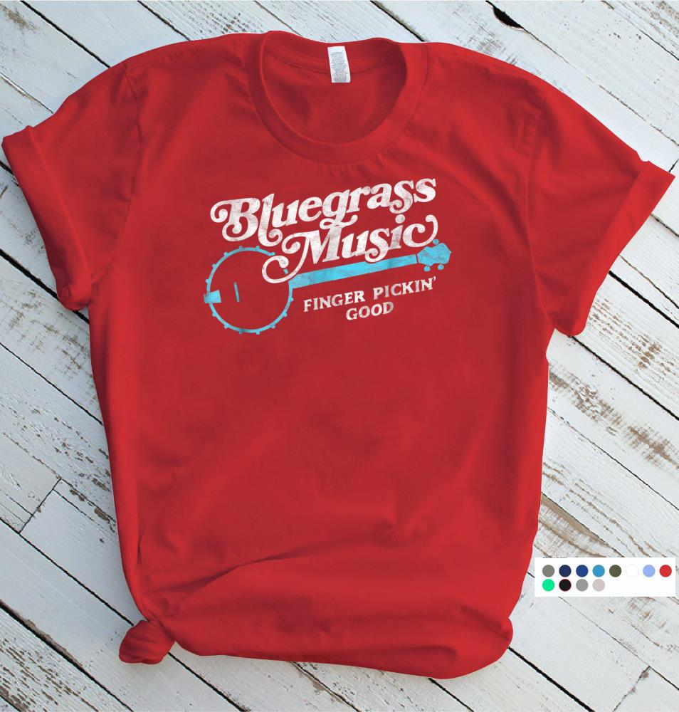 Bluegrass Music T Shirt Finger Pickin Good Banjo Design Size S 5xl Aamutee Net Shirts Shop Funny T Shirts Make Your Own Custom T Shirts