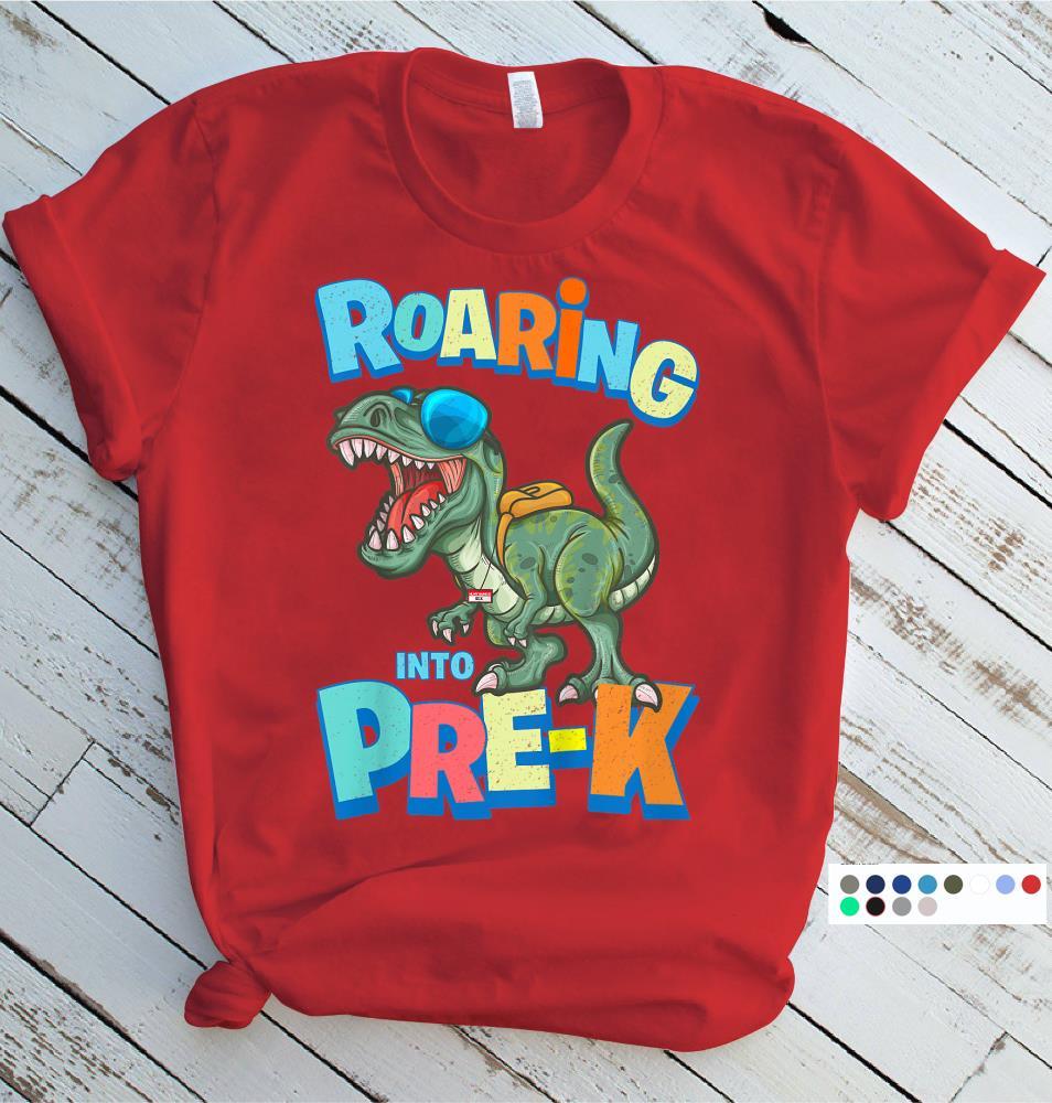 boys first day of preschool shirt pre-k gifts pre-k shirt school dinosaur back to school Preschool dinosaur preschool dinosaur shirt